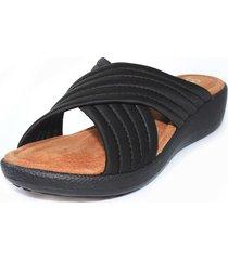 sandalia confort negro burana 865-006