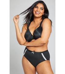 lane bryant women's extra soft full brief panty 26/28 black