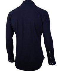 cavallaro cavallaro overhemd savio jersey stretch blauw 110211001