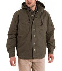 chaqueta algodón orgánico hombre praga verde rockford