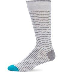 fine chevron striped socks