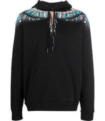 marcelo burlon grizzly wings regular hoodie