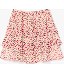 womens sweet memories cherry mini skirt - white