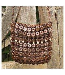 coconut shell shoulder bag, 'eco nature' (thailand)