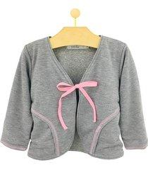 casaco infantil pandi moletim laço feminino