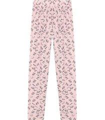 pantalón descanso mujer color rosado, talla l