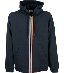 burberry lexington - cotton sweatshirt with hood and iconic striped detail