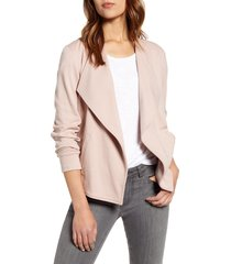 women's caslon drape collar knit blazer, size x-small - pink
