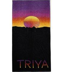 toalha de praia triya com estampa sunset preta