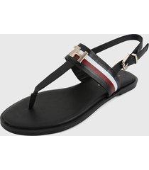 sandalia negro-azul-rojo tommy hilfiger