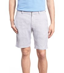 tommy bahama beach linen blend shorts, size 42 in storm gray at nordstrom