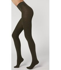 calzedonia soft modal and cashmere blend tights woman green size xl