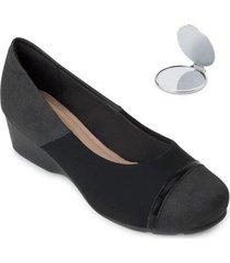 sapato modare anabela e espelho md20-7014 - feminino