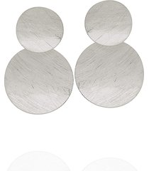 brinco dona diva semi joias grande círculos prata