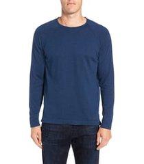 men's stone rose trim fit crewneck sweater, size xxx-large - blue