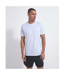 camiseta esportiva lisa | get over | branco | m