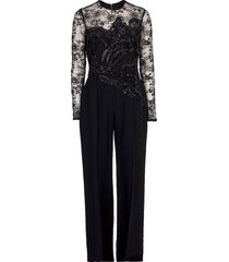 illusion lace top jumpsuit