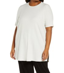 plus size women's eileen fisher ribbed knit tunic, size 3x - white
