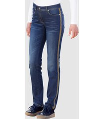 jeans dress in dark blue::geel