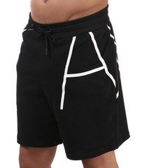 mens contrast logo shorts