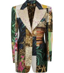 dolce & gabbana single-breasted patchwork blazer