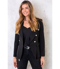 button blazer black