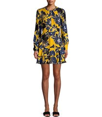 hayley floral tiered ruffled a-line dress