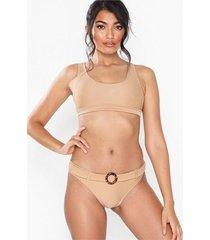 topshop ribbed belt bikini bottoms trosa