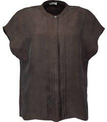 blouse elvin bruin