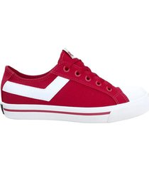 zapatilla roja pony shooter ox canvas
