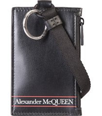alexander mcqueen branded card holder