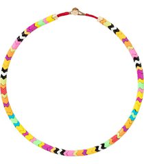 roxanne assoulin life of the party wave necklace - pink