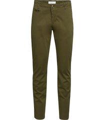 chuck regular chino pant - gots/veg chinos byxor grön knowledge cotton apparel