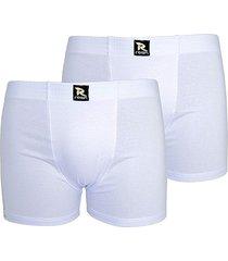 kit com 2 cuecas boxer linha noite cotton branca