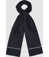reiss neptune - silk polka dot scarf in navy, mens