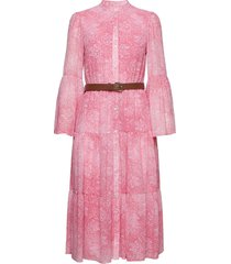 sunblched midi dress knälång klänning rosa michael kors