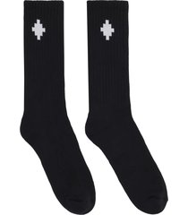 marcelo burlon cross sideway midhigh socks