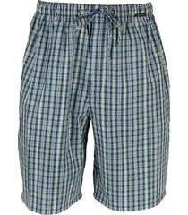 schiesser pyjama bermuda blauw ruit