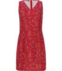 vestido flores con cremallera trasera color rojo, talla 14