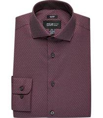 awearness kenneth cole burgundy dot slim fit dress shirt