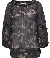 wave blouse blouse lange mouwen zwart rabens sal r