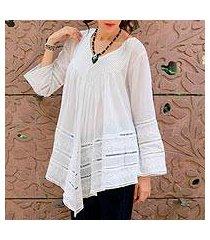 cotton blouse, 'amethi princess' (india)