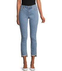 eileen fisher women's slim-fit step-hem ankle jeans - frost - size 16