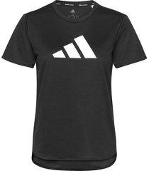 3 bar logo t-shirt w t-shirts & tops short-sleeved svart adidas performance
