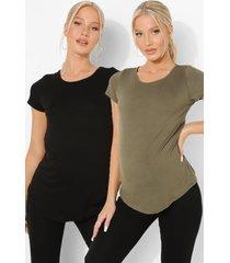 zwangerschap 2 t-shirts en legging (3 stuks), khaki