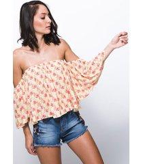 blusa off shoulder koaj - amarillo
