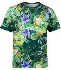 camiseta estampada over fame jardim campã¢nula floral - preto - masculino - poliã©ster - dafiti
