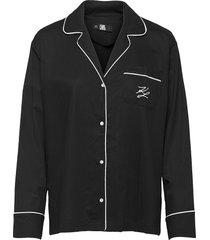 l/svl pyjama shirt top svart karl lagerfeld