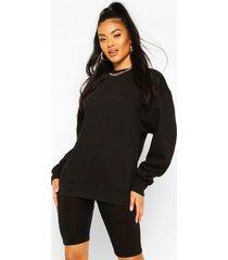 basic oversized sweatshirt, black