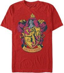 fifth sun harry potter men's hogwarts house gryffindor crest short sleeve t-shirt
